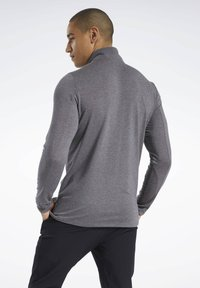 Reebok - ACTIVCHILL+COTTON TRAINING 1/4 ZIP - Sweatshirt - black - 2