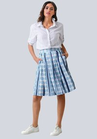 Alba Moda - ROCK - Pleated skirt - blue/white - 1