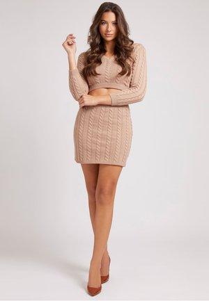 ROCK WOLLMIX - Mini skirt - beige