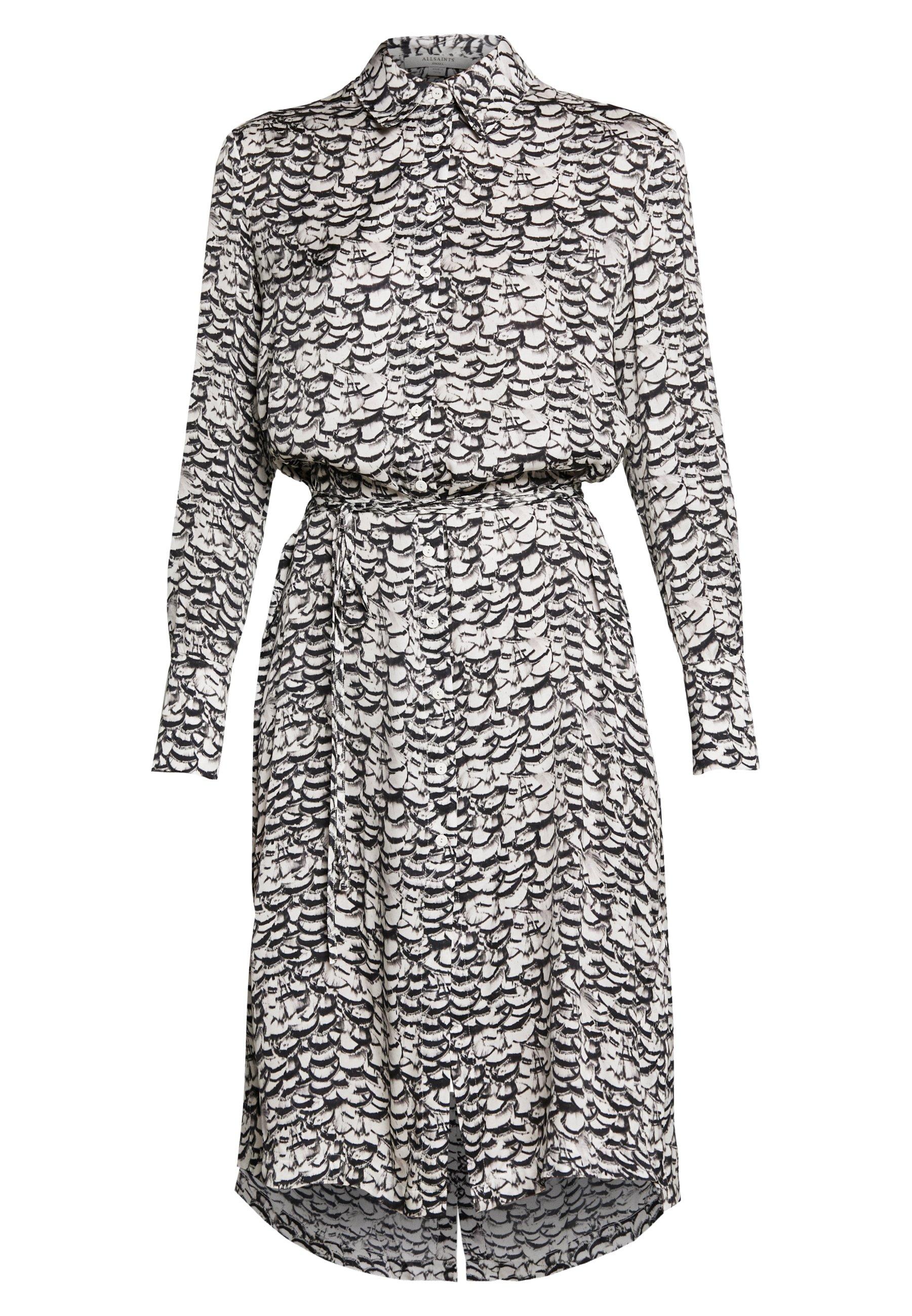 AllSaints ANYA PLUME DRESS - Robe fourreau - chalk white