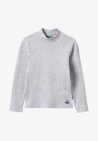 Benetton - Langarmshirt - mottled light grey - 2