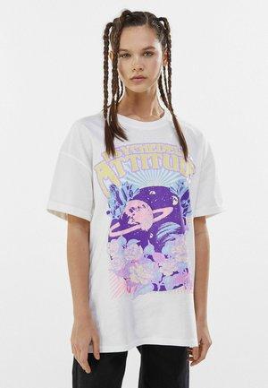 Print T-shirt - stone