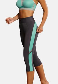 Anita - CAPRI  FITNESS - 3/4 sports trousers - pool blue anthrazit - 0