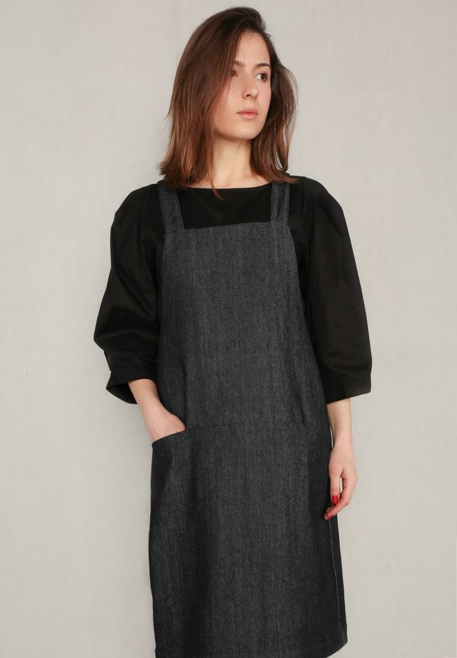 Day dress - black denim
