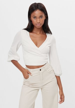 WEITE IN WICKELOPTIK - Blouse - white