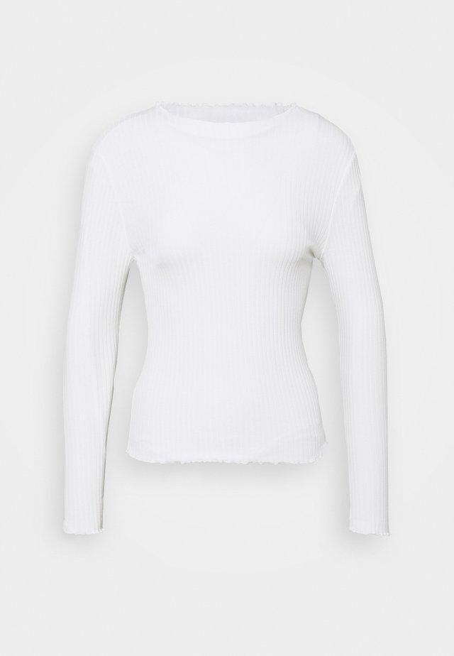 ONLEMMA HIGH NECK - Bluzka z długim rękawem - egret