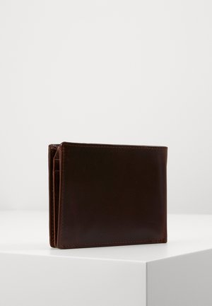 RFID COIN WALLET WITH FLAP - Punge - brown