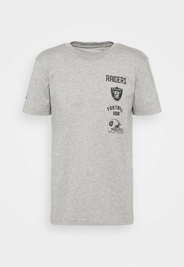 NFL LAS VEGAS RAIDERS PROPERTY OF GRAPHIC - Klubové oblečení - grey