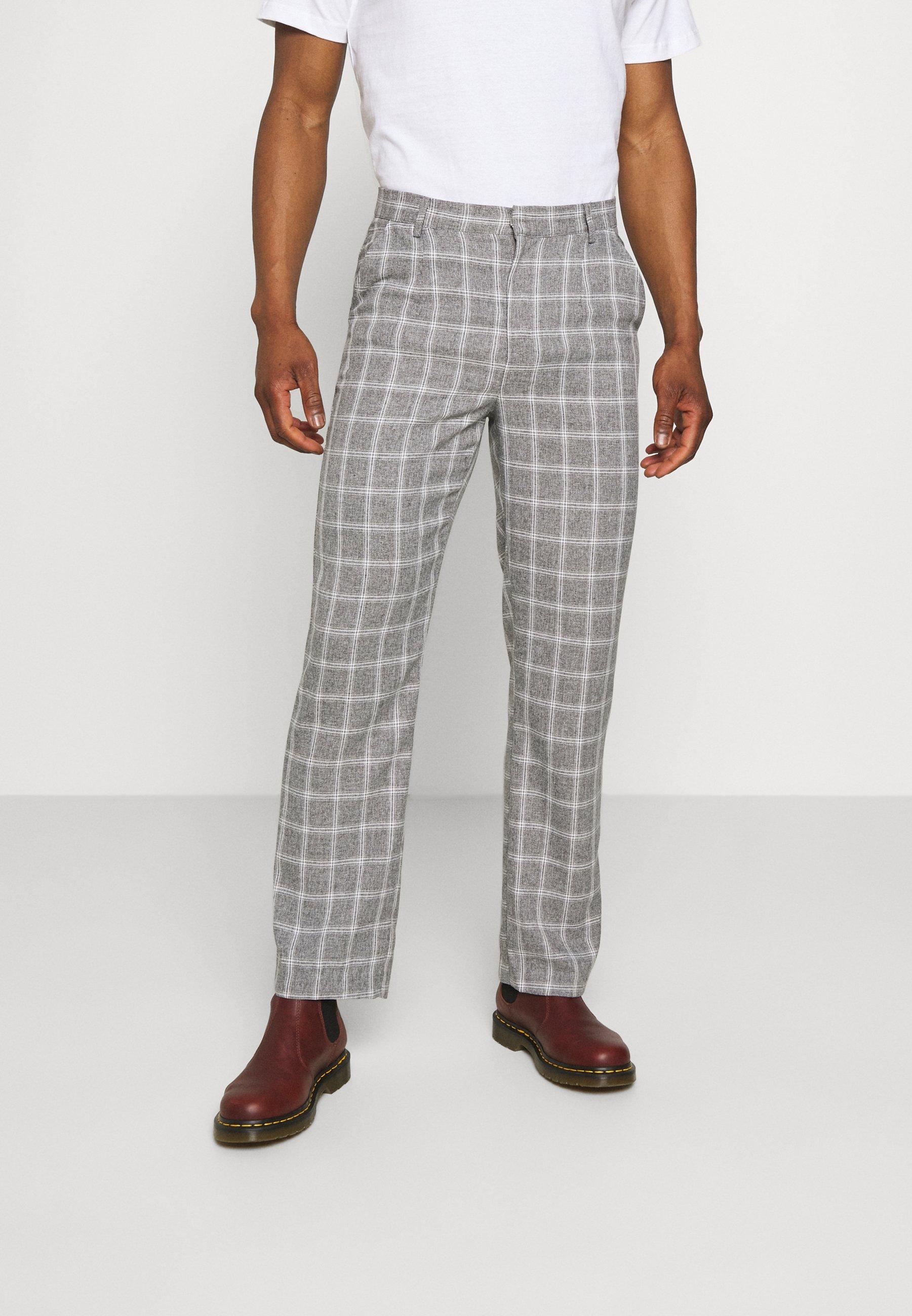 Men BREEZE STRAIGHT CHECK SUIT TROUSER - Trousers