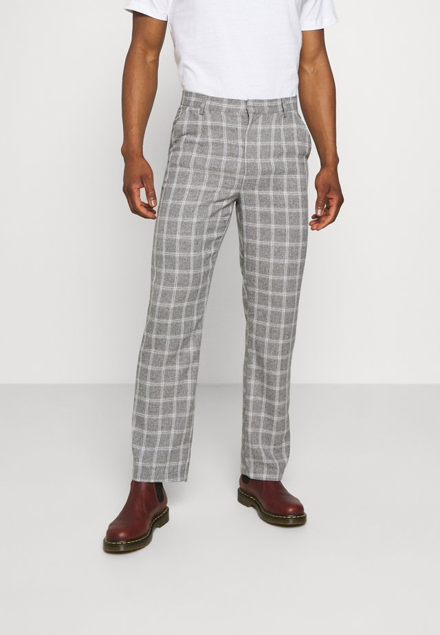 BREEZE STRAIGHT CHECK SUIT TROUSER - Kalhoty - grey