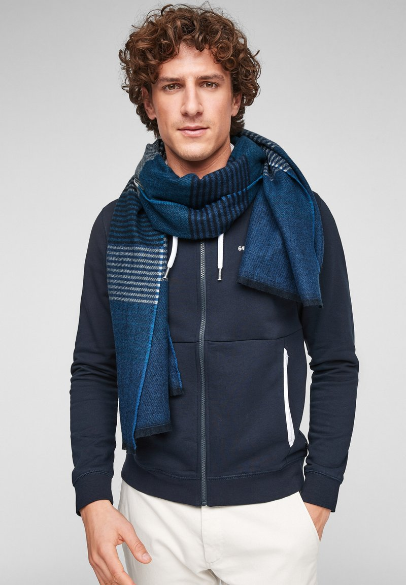 s.Oliver - Scarf - dark blue stripes