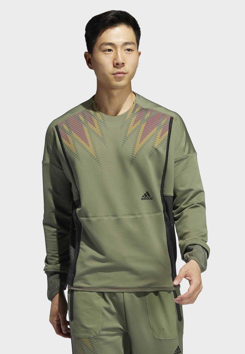 adidas Performance - PRIME COLD.RDY TOP CREW SWEATSHIRT - Sweater - green