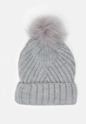 GEO BOBBLE HAT - Beanie - grey
