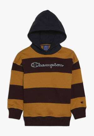 ROCHESTER VARSITY HOODED - Hoodie - yellow/bordeaux