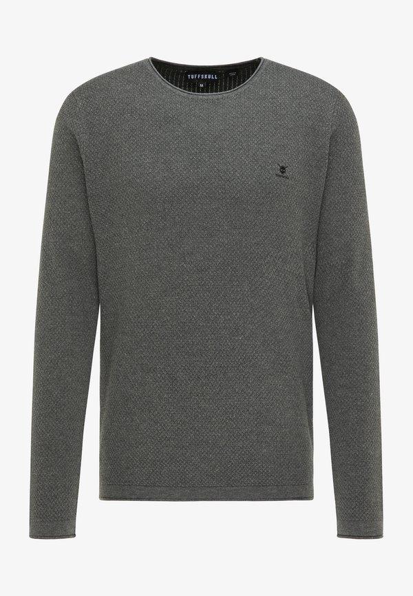 TUFFSKULL Sweter - dunkelgrau melange/ciemnoszary melanż Odzież Męska CTZE