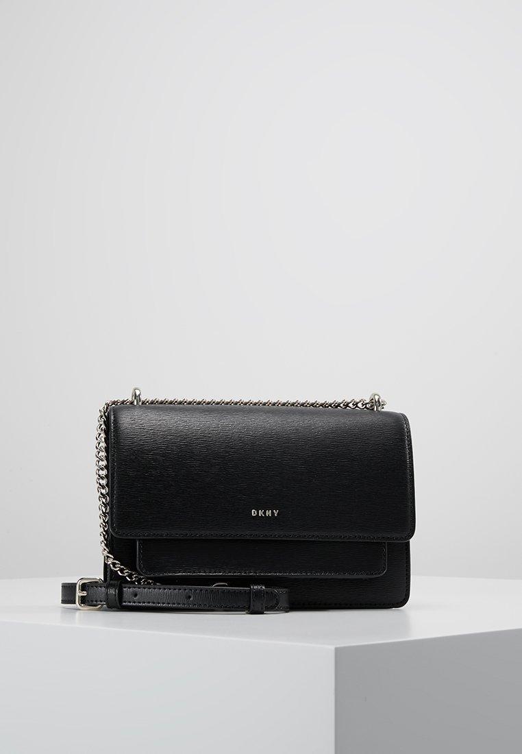 DKNY - BRYANT SMALL CHAIN FLAP - Across body bag - black/gold