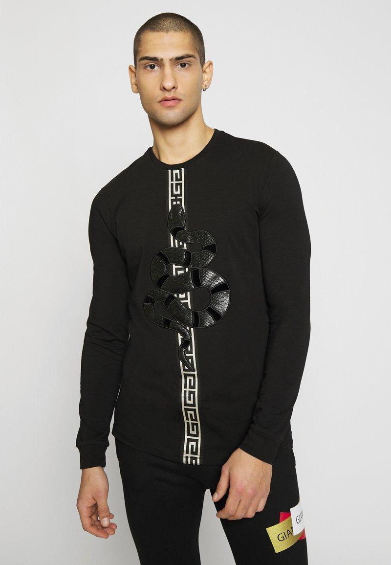 Glorious Gangsta - DEVANEYLONGSLEEVE TEE - T-shirts basic - black