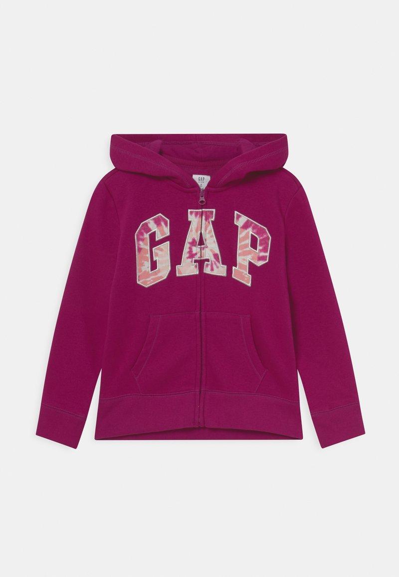 GAP - LOGO - Zip-up sweatshirt - orchid blossom