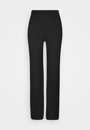 STACY TROUSERS - Kalhoty - black dark