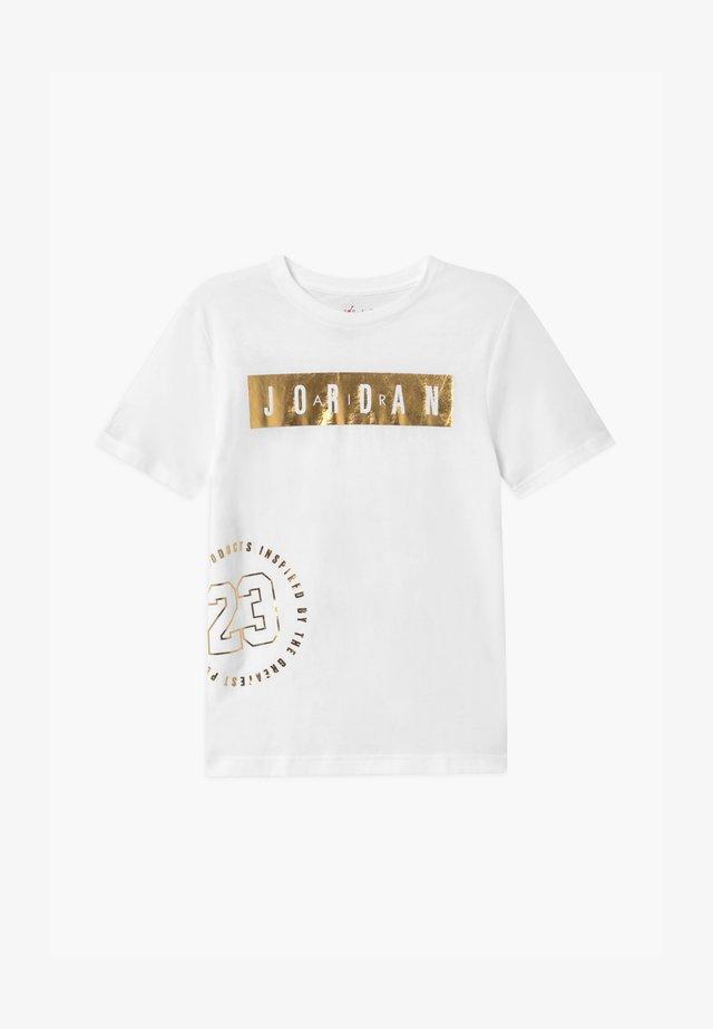 HIGHTLIGHTS UNISEX - T-shirt con stampa - white/gold
