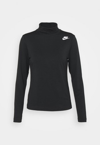 MOCK - T-shirt à manches longues - black/white