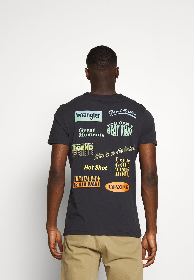 Wrangler - GOOD TIMES TEE - T-shirt print - blue graphite