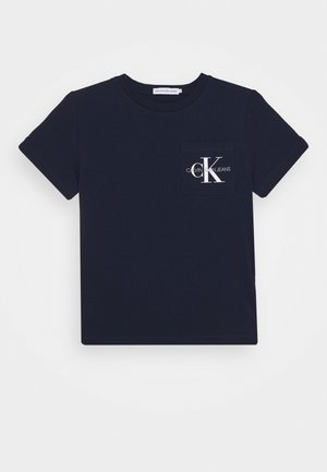 MONOGRAM POCKET  - T-shirt med print - blue