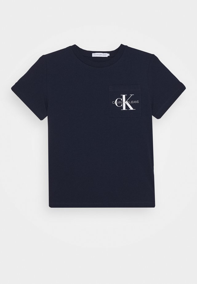MONOGRAM POCKET  - Camiseta estampada - blue