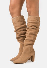 Anna Field - LEATHER - High heeled boots - beige - 0