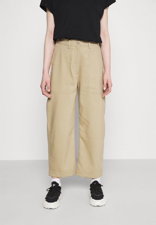 JINA TROUSER - Spodnie materiałowe - beige medium/dusty beige