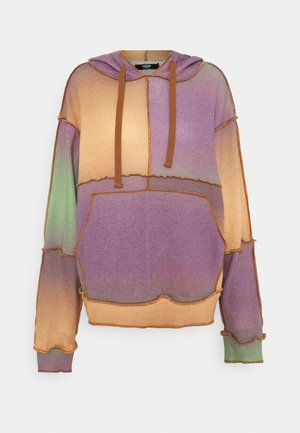 PATCHWORK HOODIE OMBRE MIX - Strikkegenser - multi