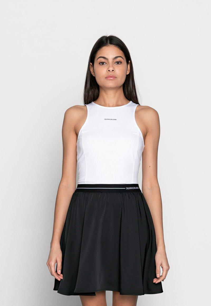 Calvin Klein Jeans - MICRO BRANDINGTANK - Top - white