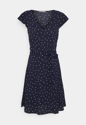 Vestido informal - dark blue/white
