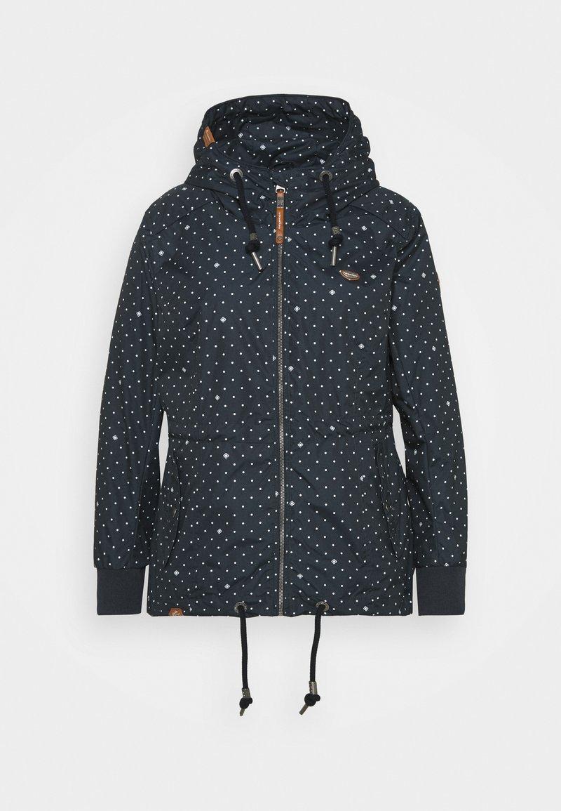 Ragwear Plus - DANKA DOTS - Krátký kabát - navy