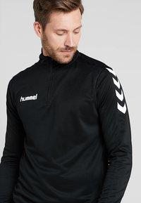 Hummel - CORE ZIP - Langærmede T-shirts - black - 4