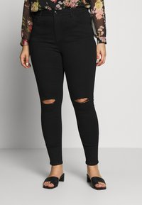 Dorothy Perkins Curve - WASHED ALEX - Jeans Skinny Fit - black - 0