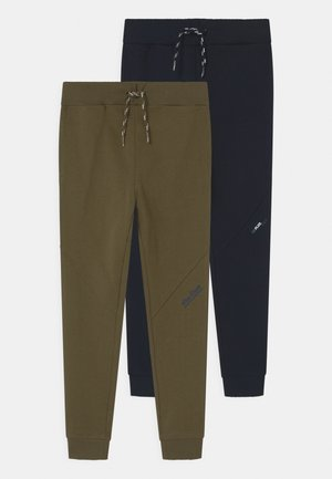 NKMBORGE 2 PACK - Tracksuit bottoms - dark sapphire/ivy green