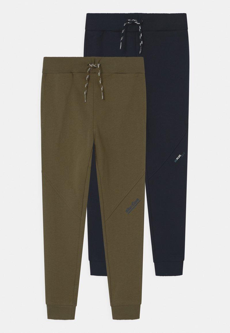 Name it - NKMBORGE 2 PACK - Teplákové kalhoty - dark sapphire/ivy green
