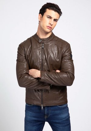 Faux leather jacket - braun