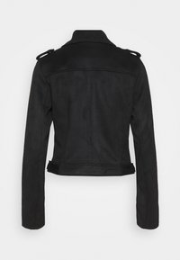 TOM TAILOR DENIM - BIKER JACKET - Faux leather jacket - deep black - 1