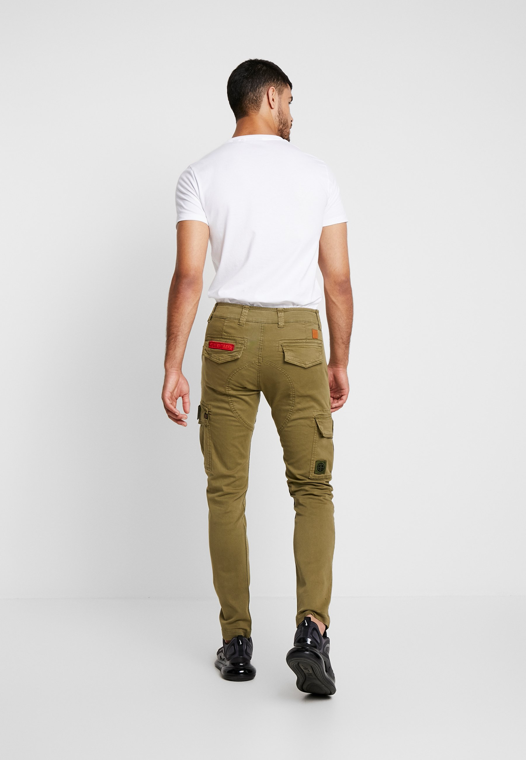 Alpha Industries PETROL PATCH - Cargo trousers - oliv Ihrmf