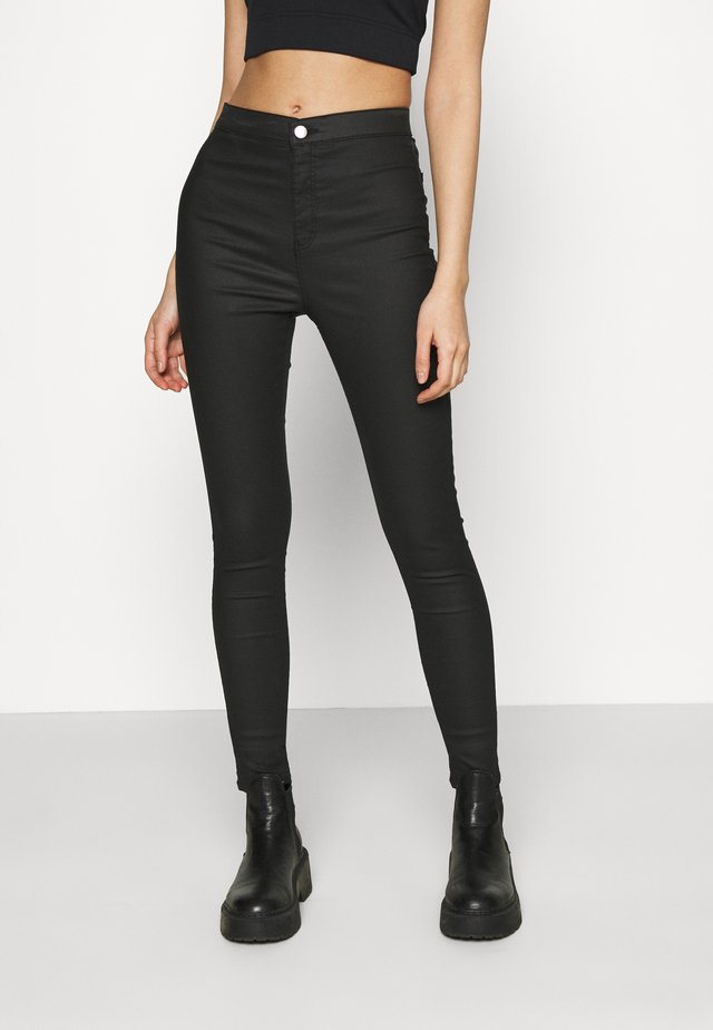 COATED JONI - Jeans Skinny Fit - black