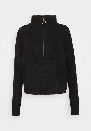 NMNEWALICE HIGH NECK - Jumper - black