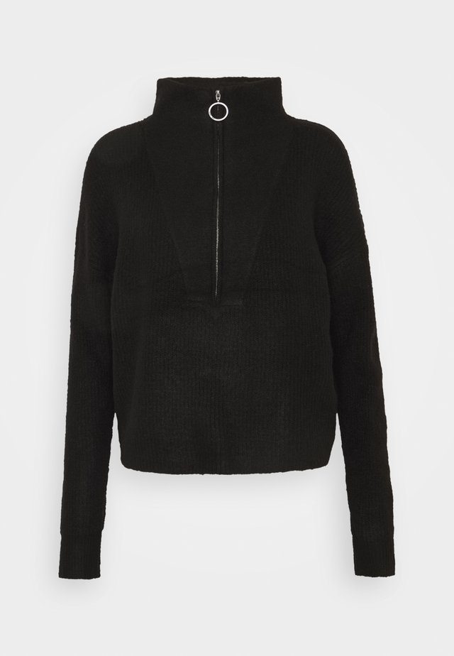 NMNEWALICE HIGH NECK - Strikpullover /Striktrøjer - black