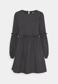 Missguided - PUFF SLEEVE FRILL DETAIL SMOCK DRESS - Denní šaty - navy - 0