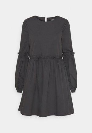 PUFF SLEEVE FRILL DETAIL SMOCK DRESS - Robe d'été - navy