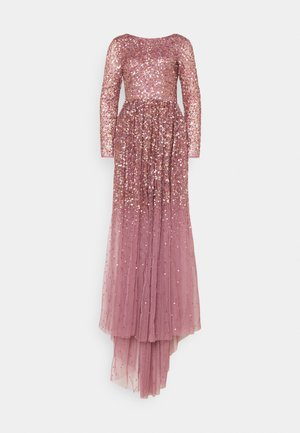 ALL OVER MAXI DRESS WITH PLUNGE BACK - Abito da sera - lotus pink