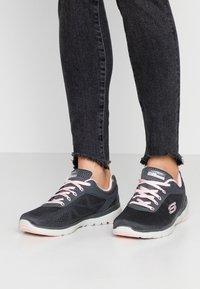 Skechers Sport - FLEX APPEAL 3.0 - Trainers - charcoal/pink - 0