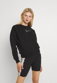 Karl Kani - SMALL SIGNATURE CREW - Sweatshirt - black - 0