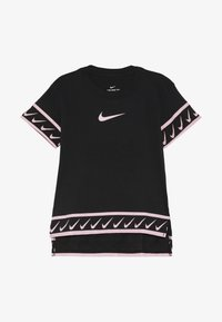 Nike Performance - TEE STUDIO - Print T-shirt - black/pink tint - 3